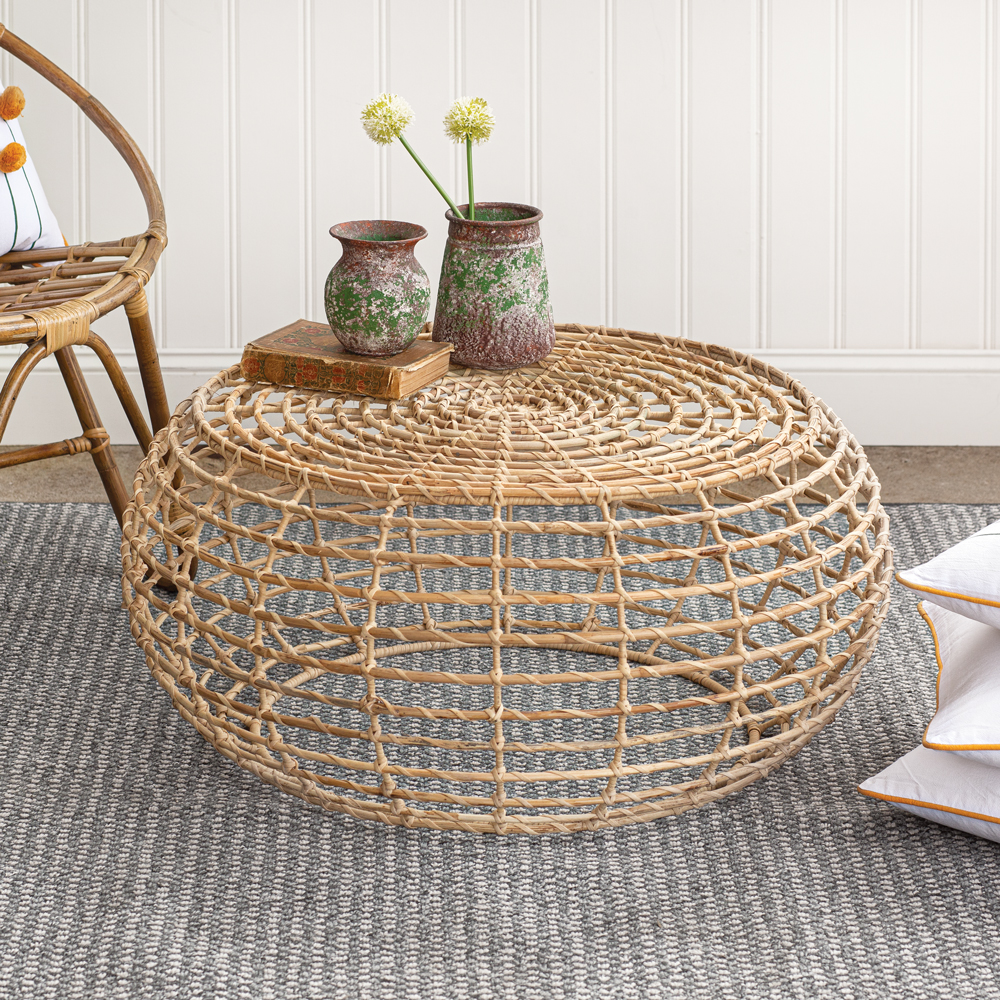 - Rattan Round Coffee Table CTW Home Collection